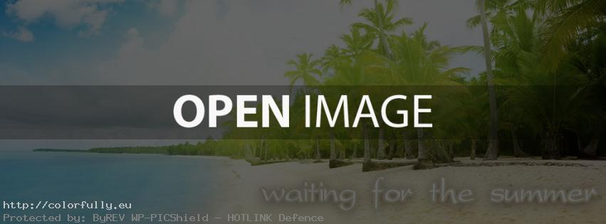 Waiting for the summer – Facebook cover