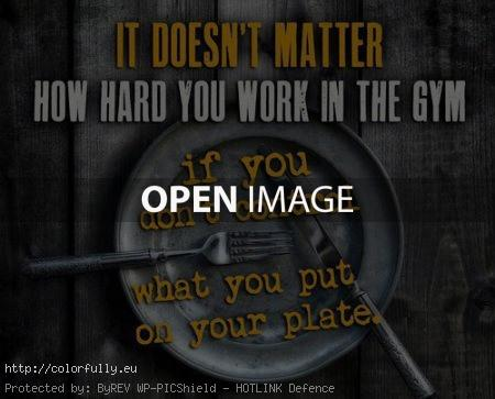 What you put on your plate?