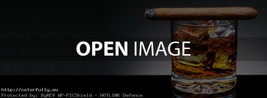 Whiskey and cuban cigar – Facebook cover