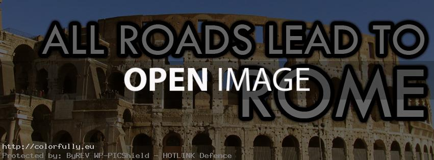 All roads lead to Rome – Facebook cover