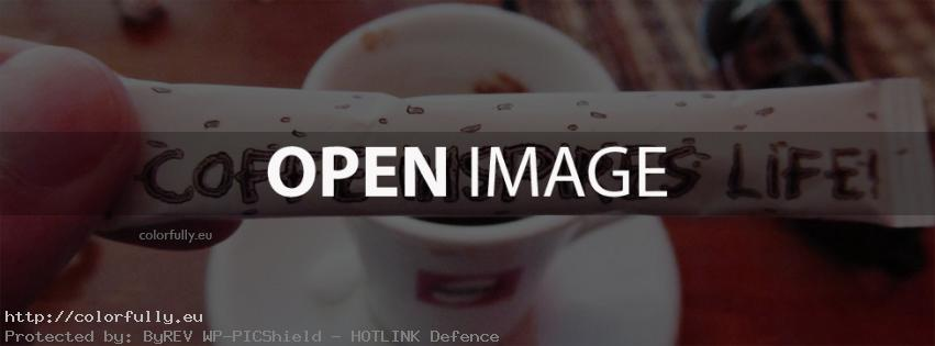 Coffee inspires life – Facebook cover