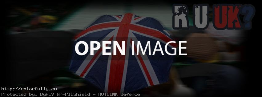 UK flag umbrella – Facebook cover