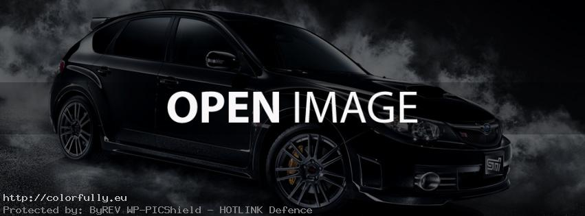 Black Subaru Impreza STI – Facebook cover
