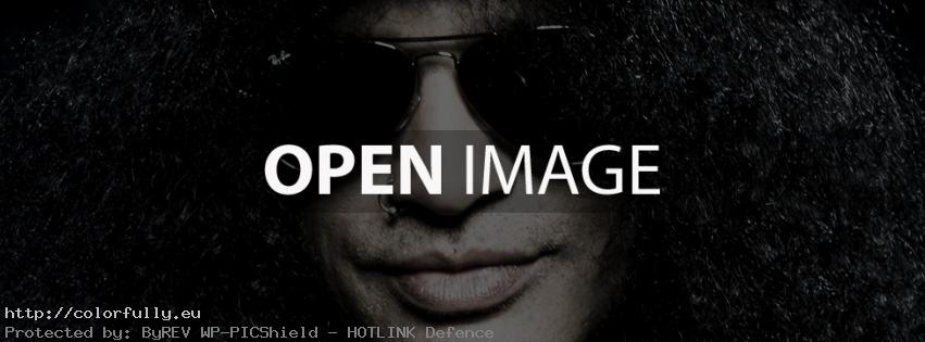 Slash – Black Facebook cover