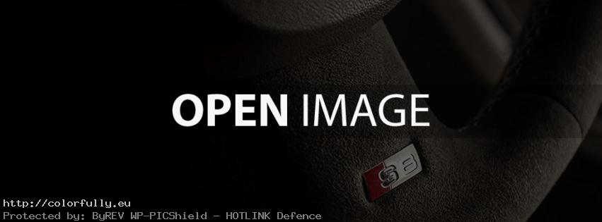 Audi S8 steering wheel – Facebook cover