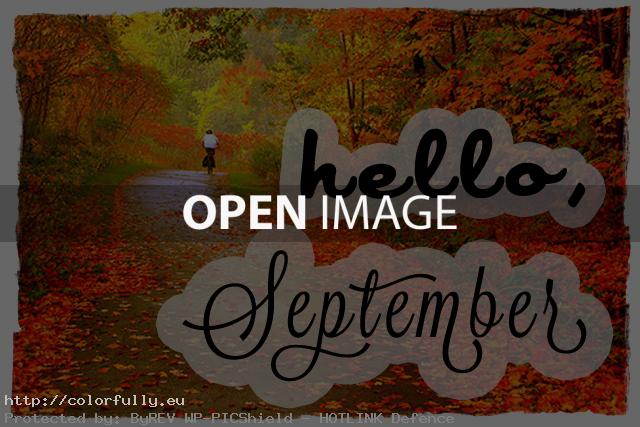 Hello September Autumn 200x100 Quotes Images
