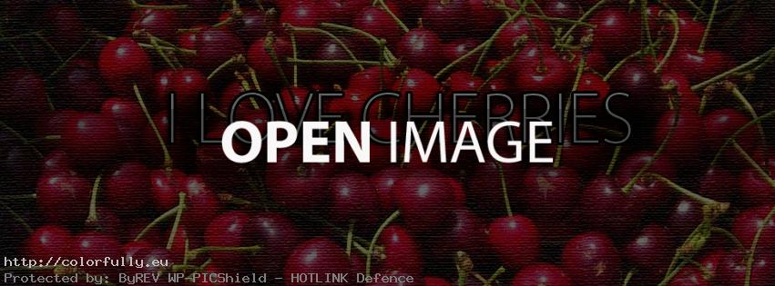 I love cherries – Facebook cover