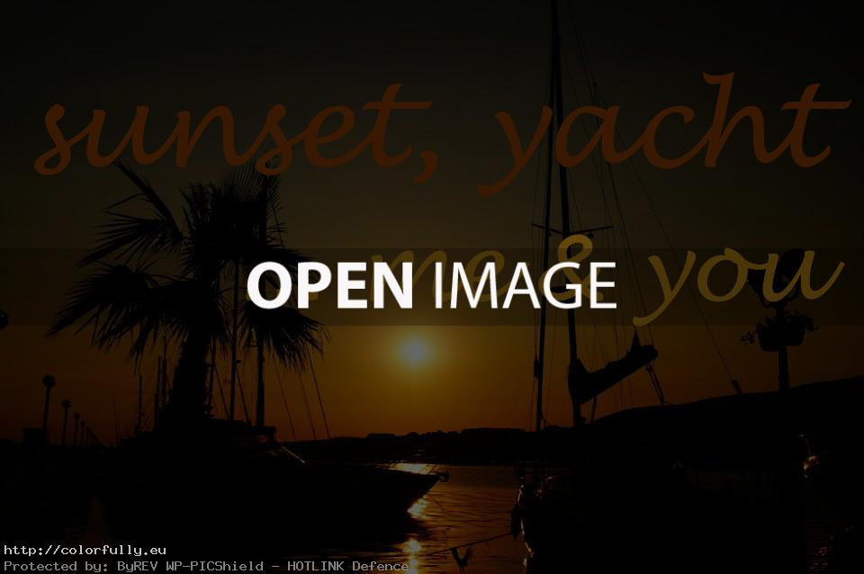 Sunset, yacht.. me & you