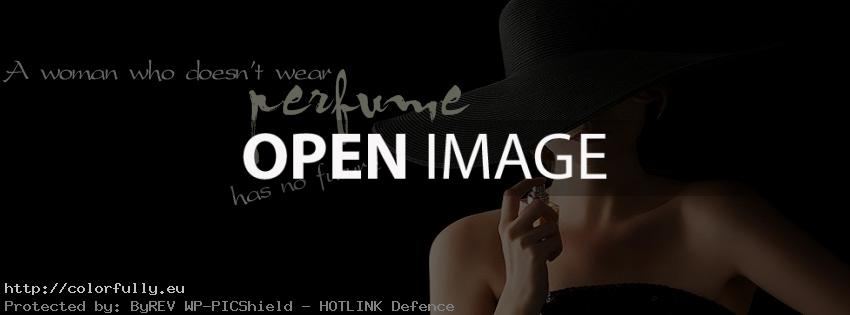 A woman who doesn't wear perfume – Facebook cover