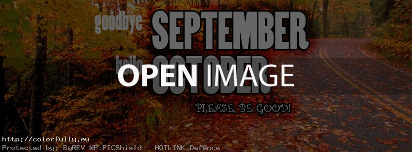 Bon Goodbye September, Hello October   Facebook Cover