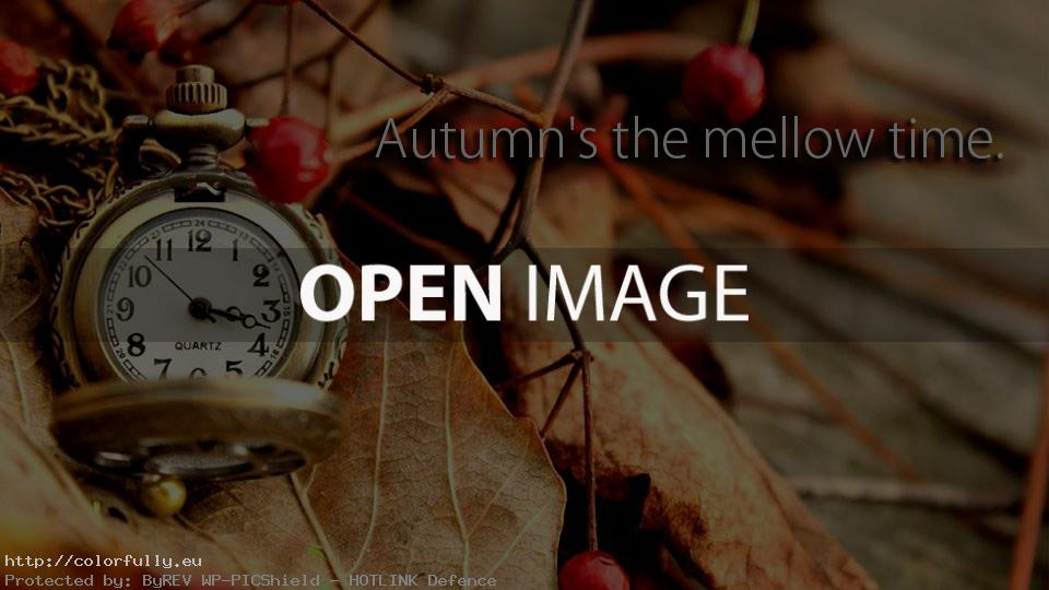 Autumn's the mellow time.