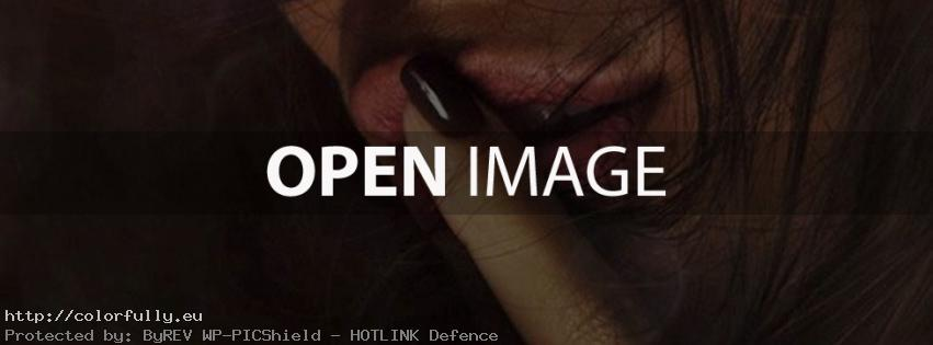 Finger on lips shhh – Facebook cover