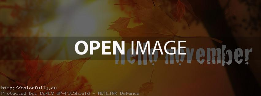 Hello November – Facebook cover