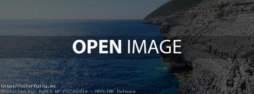 Wonderful blue sea - Facebook cover