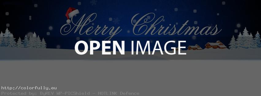Merry Christmas – Facebook cover