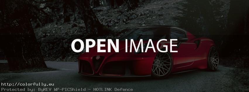 Red Alfa Romeo – Facebook cover