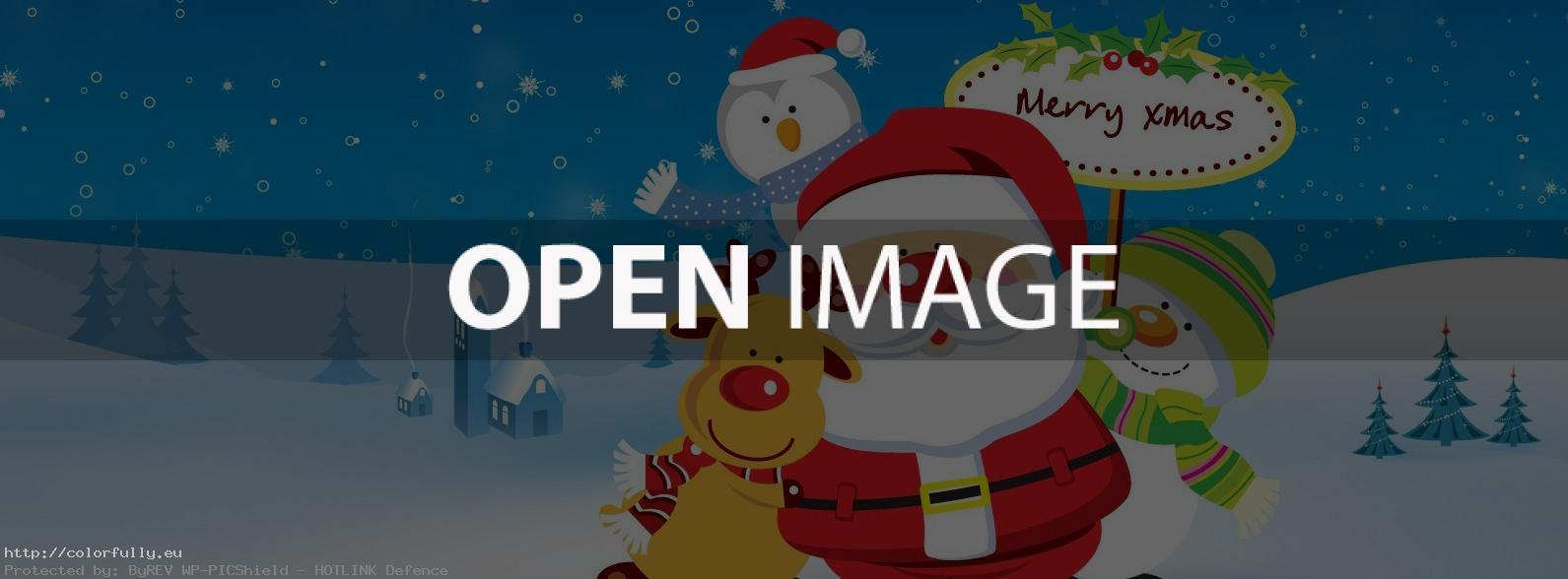 Santa Merry Xmas – Facebook cover
