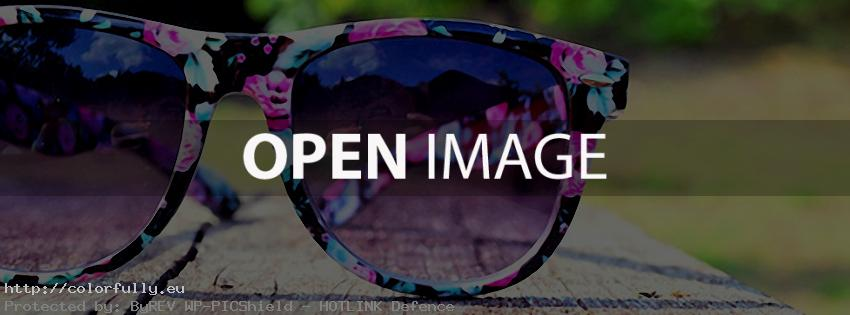 Flower sun glasses – Facebook cover