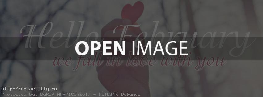 Hello February! We fall in love with you! – Facebook cover