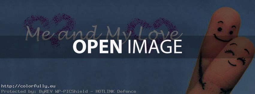 Me and my love – Facebook cover