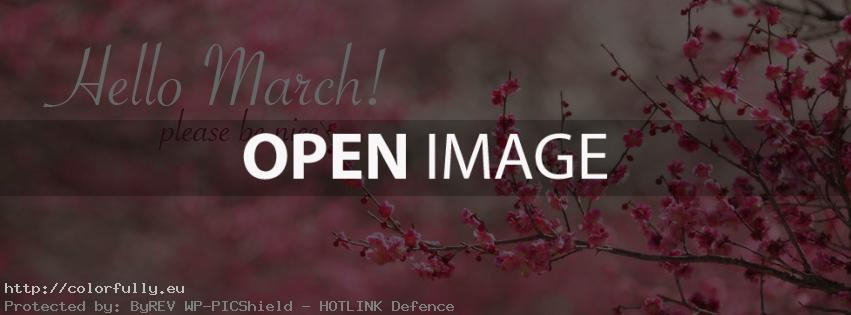 Hello March! Please be nice – Facebook cover