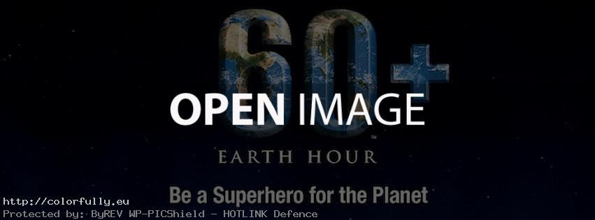 Earth hour facebook cover