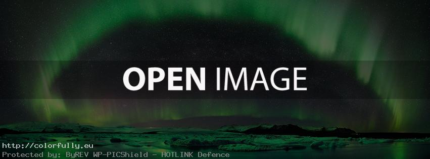 Electric green aurora – Facebook cover