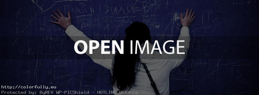 Hands on blue wall – Facebook cover