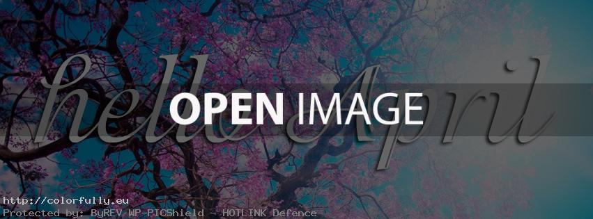 Hello April Spring Tree – Facebook cover