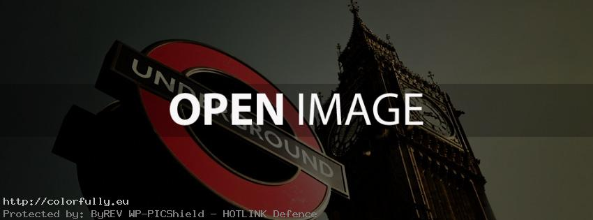 London Underground and Big Ben - Facebook cover