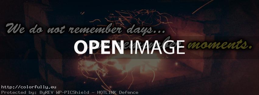 We do not remember days - Facebook cover