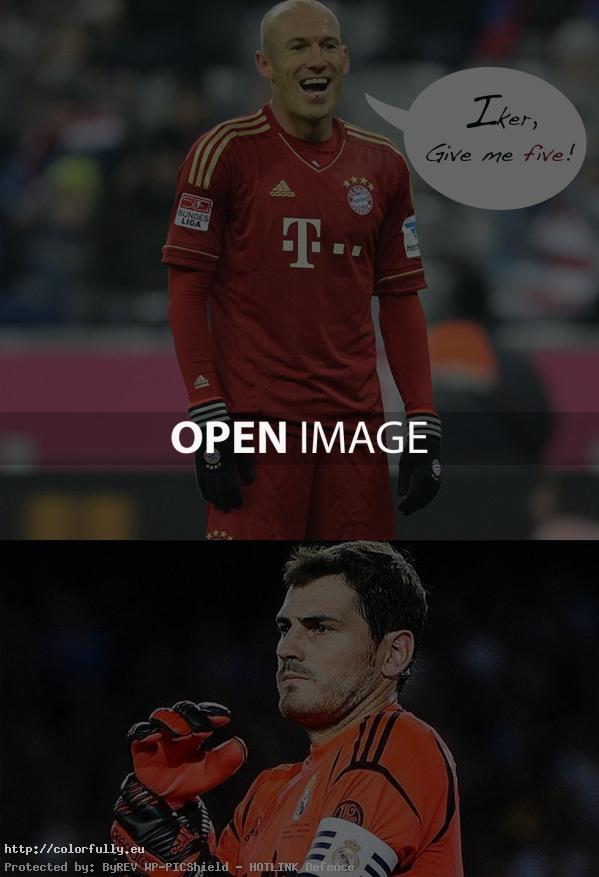 robben and iker joke