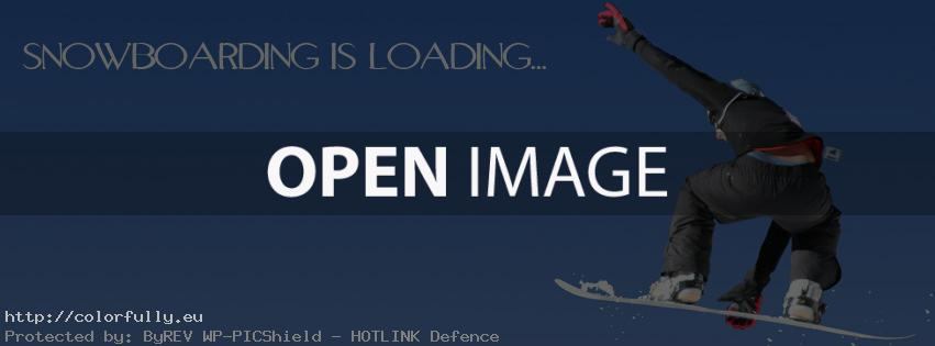 Snowboarding is loading – Facebook cover