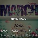 bye march hello april 150x150 Hurry Up April! Hello April images
