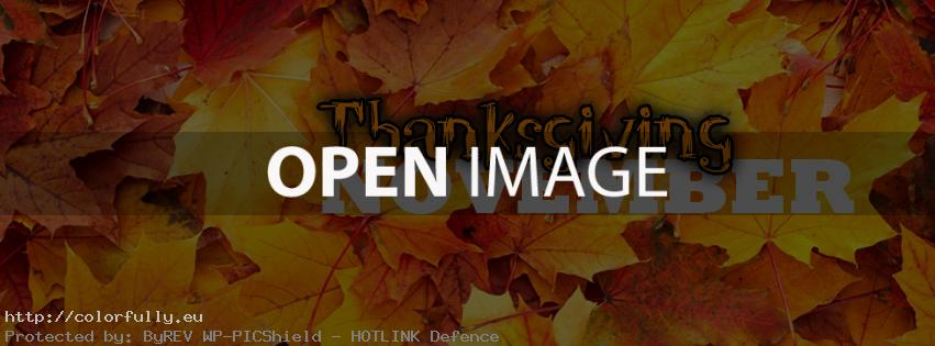 Thanksgiving November - Facebook cover