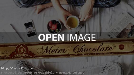 chocolate morning in bed